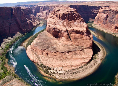 Horseshoe bend of the Colorado river near Page,  Arizona,  USA