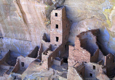 White house, Mesa Verde, Arizona, USA