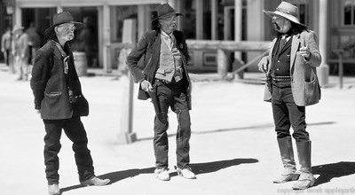 Tombstone Arizona - actors posing for tourist shots.
