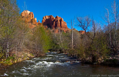 Cathedral Rock from the Red Rock crossing in Oak Canyon, near Sedona, Arizona