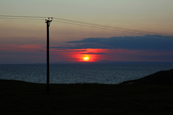 Sunset over Galloway and the Solway Firth, 13/07/11