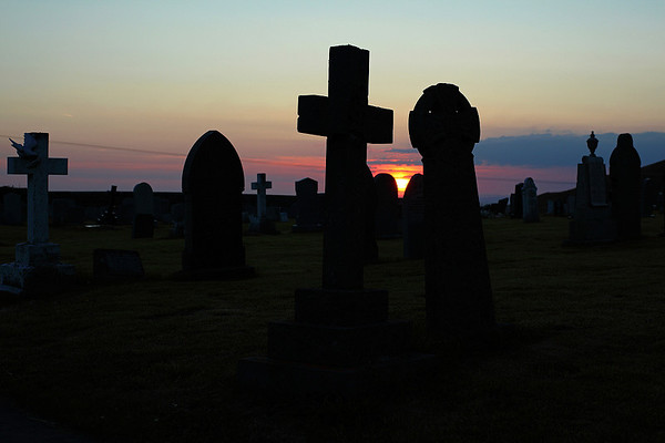 Sunset over Parton cemetary, 13/07/11