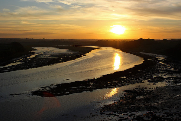 Sunset over the River Tweed, taken from the remains of Berwick Castle, 05/10/07