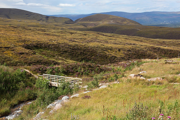 The view from near Cairngorm Ranger Base looking down to the Airgiod Meall and beyond, 19/08/11