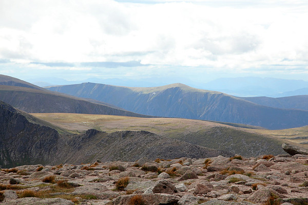 The view from the summit of Cairngorm, looking south west, 19/08/11