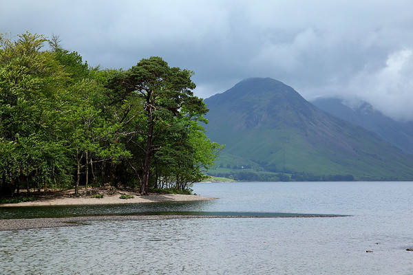 The view across Wast water from the western tip of the lake, 18/06/11