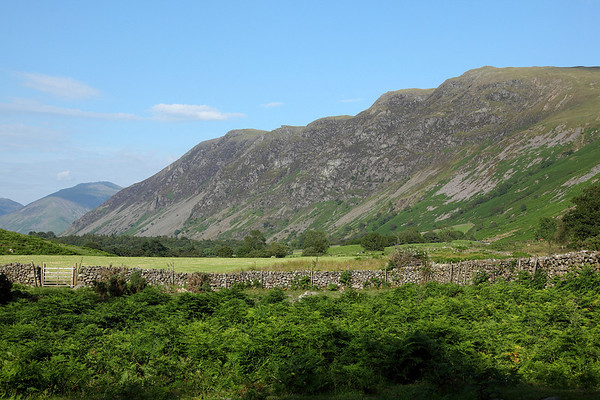 Looking across Wastdale to Whin Rigg, on the way back to the campsite and pub, 14/07/11