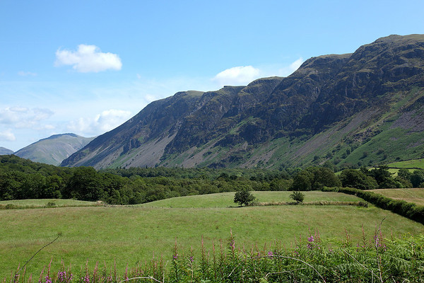 Looking across Wastdale to Whin Rigg, let the climbing begin, 14/07/11