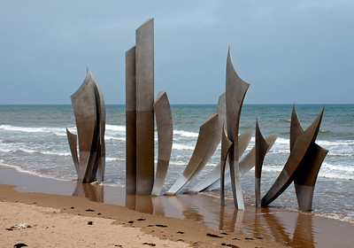 Memorial at Omaha Beach, site of the Normandy invasion on June 6, 1944.  June  9,  2016.