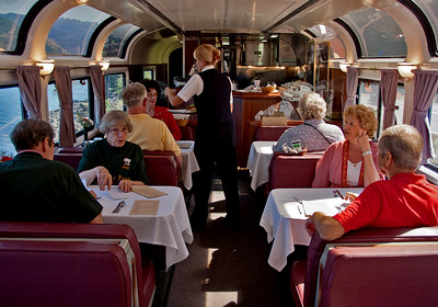September 2008.  The annual railroad party was at the Isaac Walton Inn, and most of us traveled there via Amtrak.
