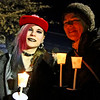 Bianca Vinci 17, with her mom, Nikki Vinci, both from Ayer, are ready to head out on the first ever Candlelight Stroll in downton Ayer. Nashoba Valley Voice Photo by David H. Brow.