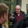 """Ralph McNiff of 66 Westford Road in Ayer addresses neighbors of the property on Thursday Dec. 8, 2016 during a joint meeting between the Ayer Board of Selectman and Board of Health  to review evidence of """"deplorable"""" living conditions present at Mr. McNiff's residence.  Sentinel & Enterprise photo/Jeff Porter"""