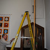 First step, a ladder from the sancutary
