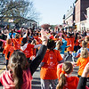 A group of kids gather in downtown Ayer on Sunday for a global freezemob/flashmob celebration dance for kindness which was performed in front of Ayer's Town Hall.  Sentinel & Enterprise photo/Jeff Porter
