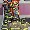 Firefighters from Shirley and Groton take out mock train crash victim, Brian Smith, 15 of Boxboro, from the 2nd story window of a double decker commuter train. Nashoba Valley Voice Photo by David H. Brow