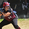 (06/03/18) Ayer/Shirley batter Hannah Justice keeps her eye on the ball as it crosses the plate during Saturday's varsity softball game at St. Bernard's.  SENTINEL & ENTERPRISE JEFF PORTER