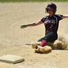 (06/03/18) Ayer/Shirley base runner Shannon Mountford slides into third during Sunday's varsity softball game at St. Bernard's.  SENTINEL & ENTERPRISE JEFF PORTER
