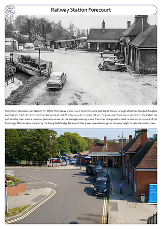 Railway Station, 1950s and 2021
