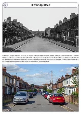 Highbridge Road, c1915 & 2021