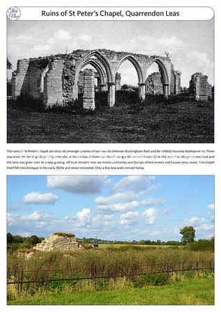 St Peter's Chapel ruins, c1900 & 2021