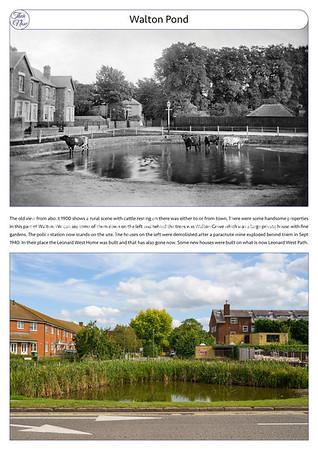 Walton Pond, c1900 & 2021