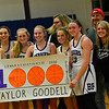 KRISTOPHER RADDER — BRATTLEBORO REFORMER<br /> Bellows Falls' Taylor Goodell celebrates her 1000 career point during a playoff game at Bellows Falls Union High School on Tuesday, March 3, 2020.