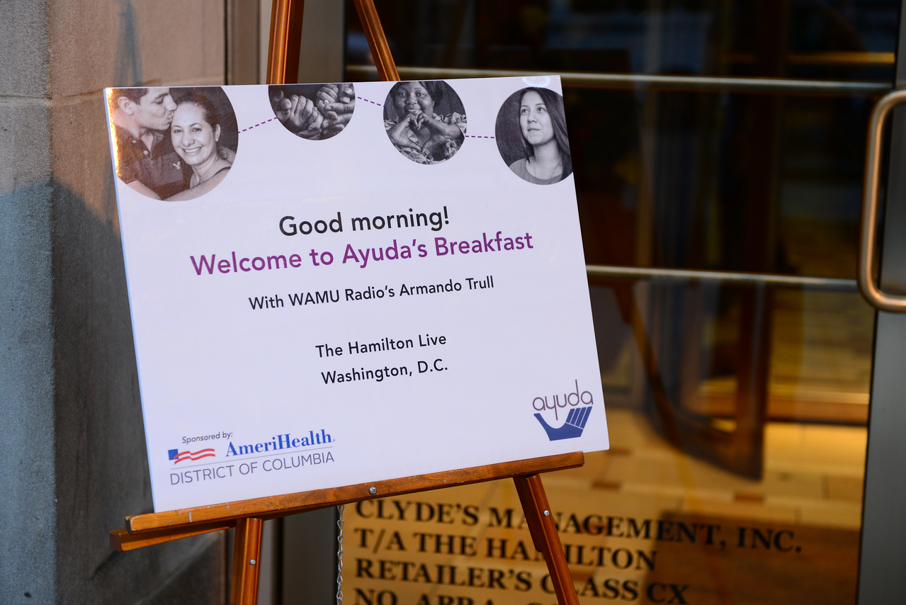 Ayuda Breakfast Fundraiser Hamilton Live, Washington, DC September 21, 2016