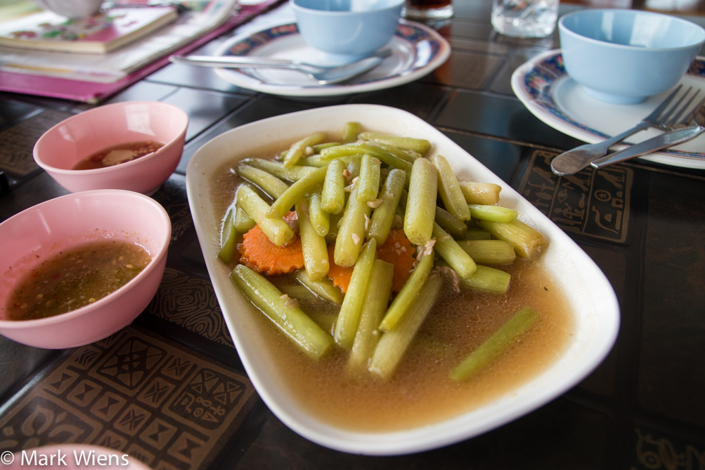 Stir fried lotus stems (ผัดสายบัว)