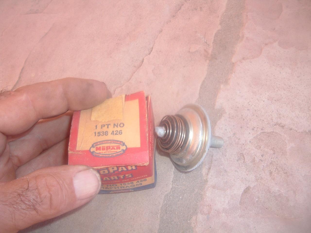 1951 52 53 54 55 56 57 58 59 60 61 NOS MoPar Carb Air Horn GASKET V8 2V