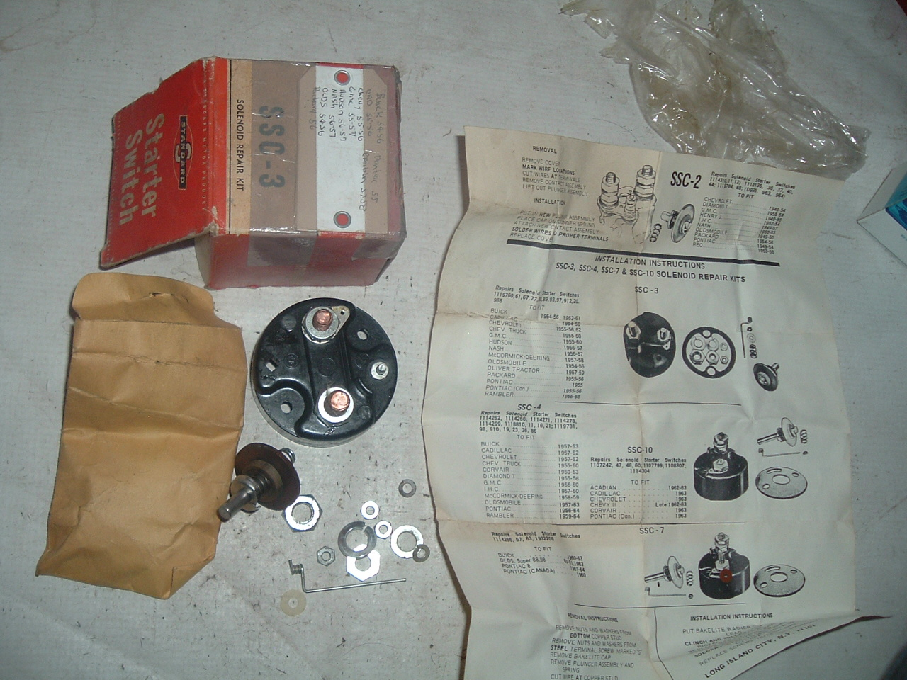Search Results 1947 Hudson Wiring Harness 1954 55 56 57 Chevrolet Buick Cadillac Oldsmobile Starter Solonoid Repair Kit
