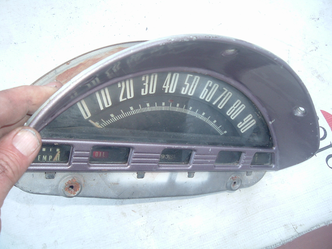 View Product1956 ford truck speedometer dash and gauge cluster original (1) (z 56 fordtruckgauge)
