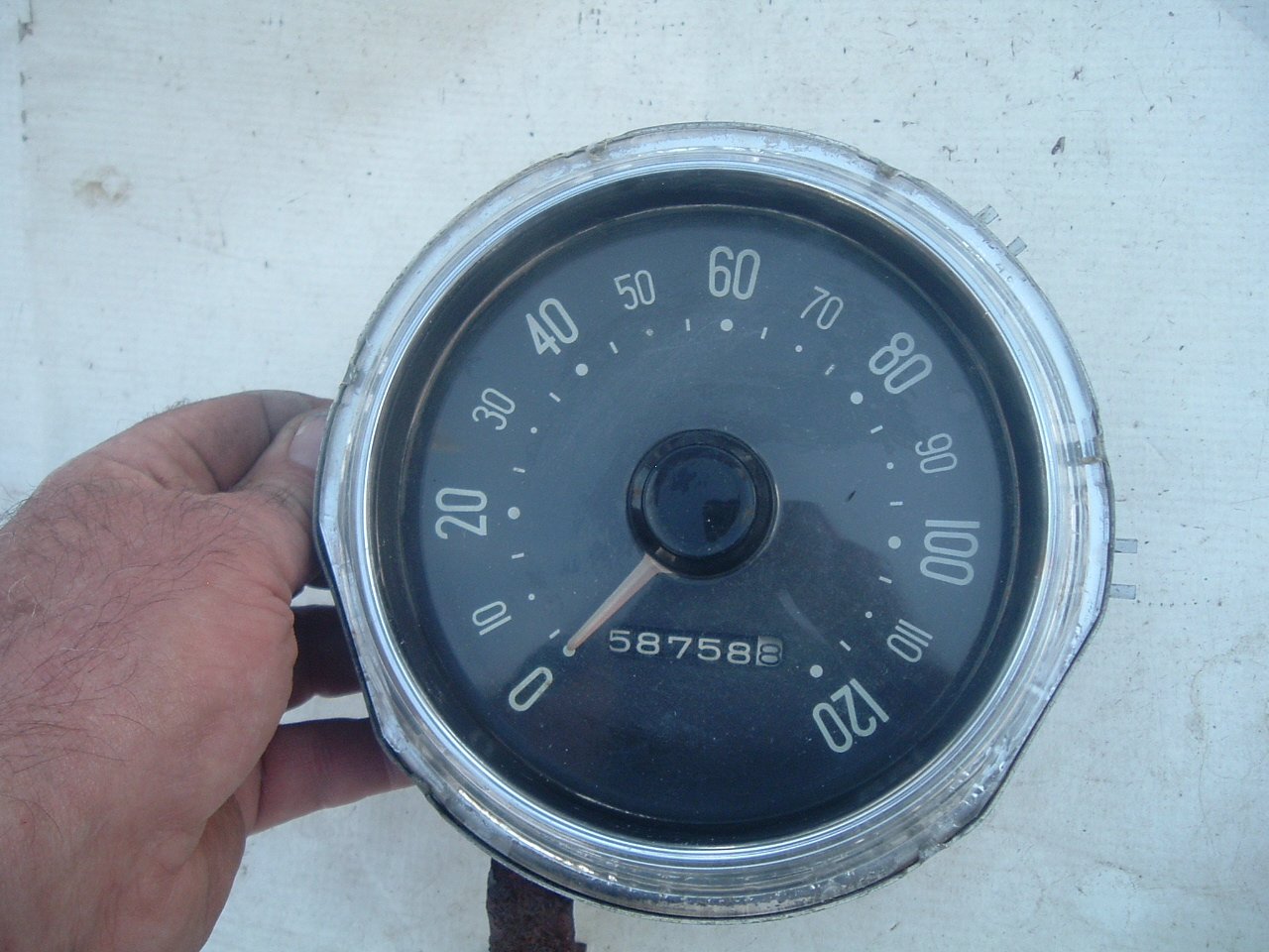 1955 56 plymouth speedometer dash cluster original (z 5556plymouthgauge)