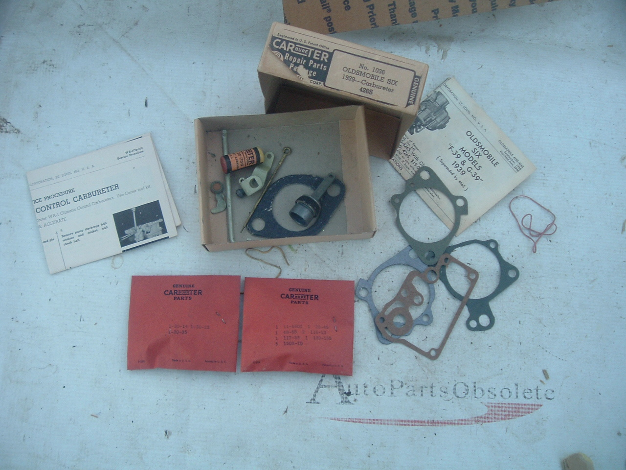 1939 oldsmobile carter 1 barrel carburetor rebuild kit 426s 426-S (z 1036)