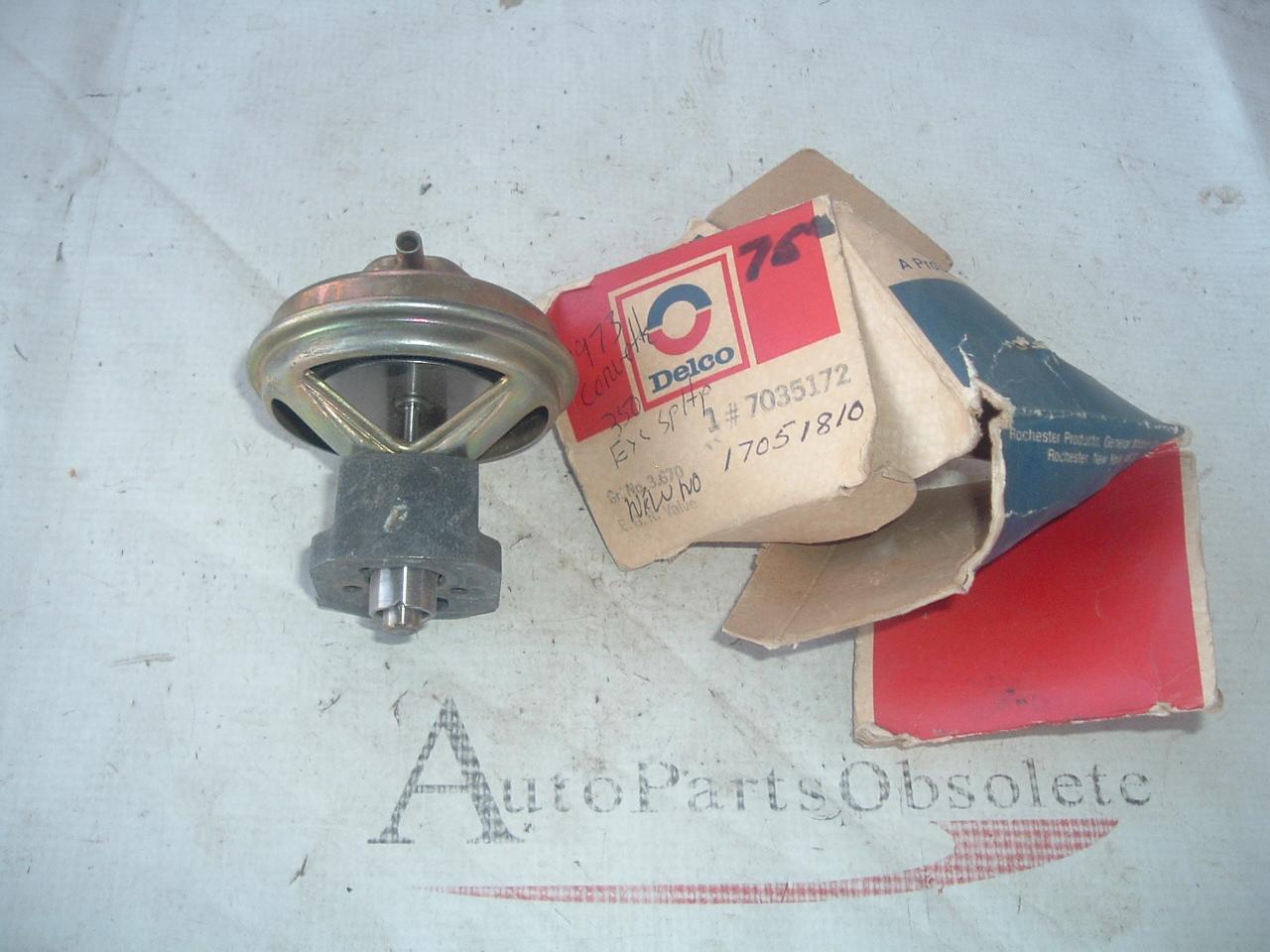 1972 chevrolet corvette EGR control valve relay # 7035172 (z 7035172)
