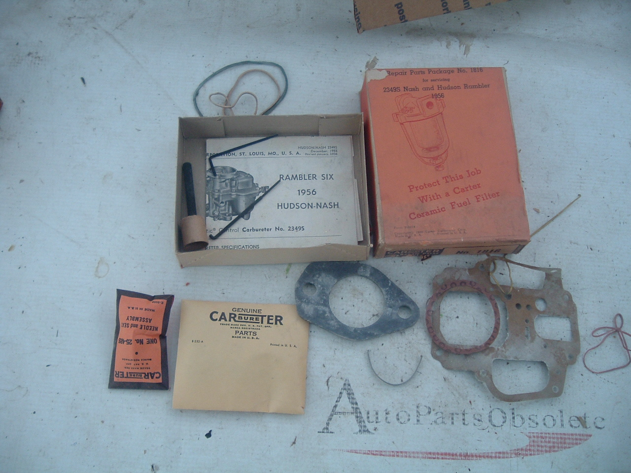 1956 nash hudson rambler carter 1 barrel carburetor rebuild kit 2349s 2349-S