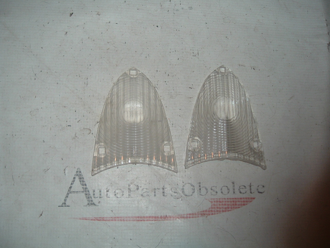 1955 56 ford reverse light lens 1pair # B5A-15514-A (z b5a15514a)
