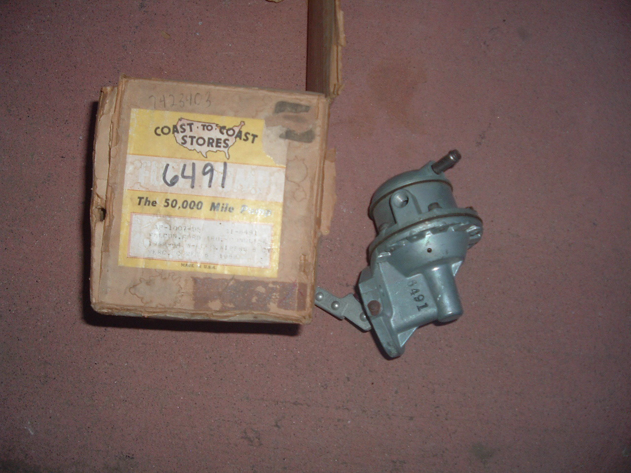 1962 63 64 ECONOLINE FALCON 144 170 fuel pump 6491 (z 6491)