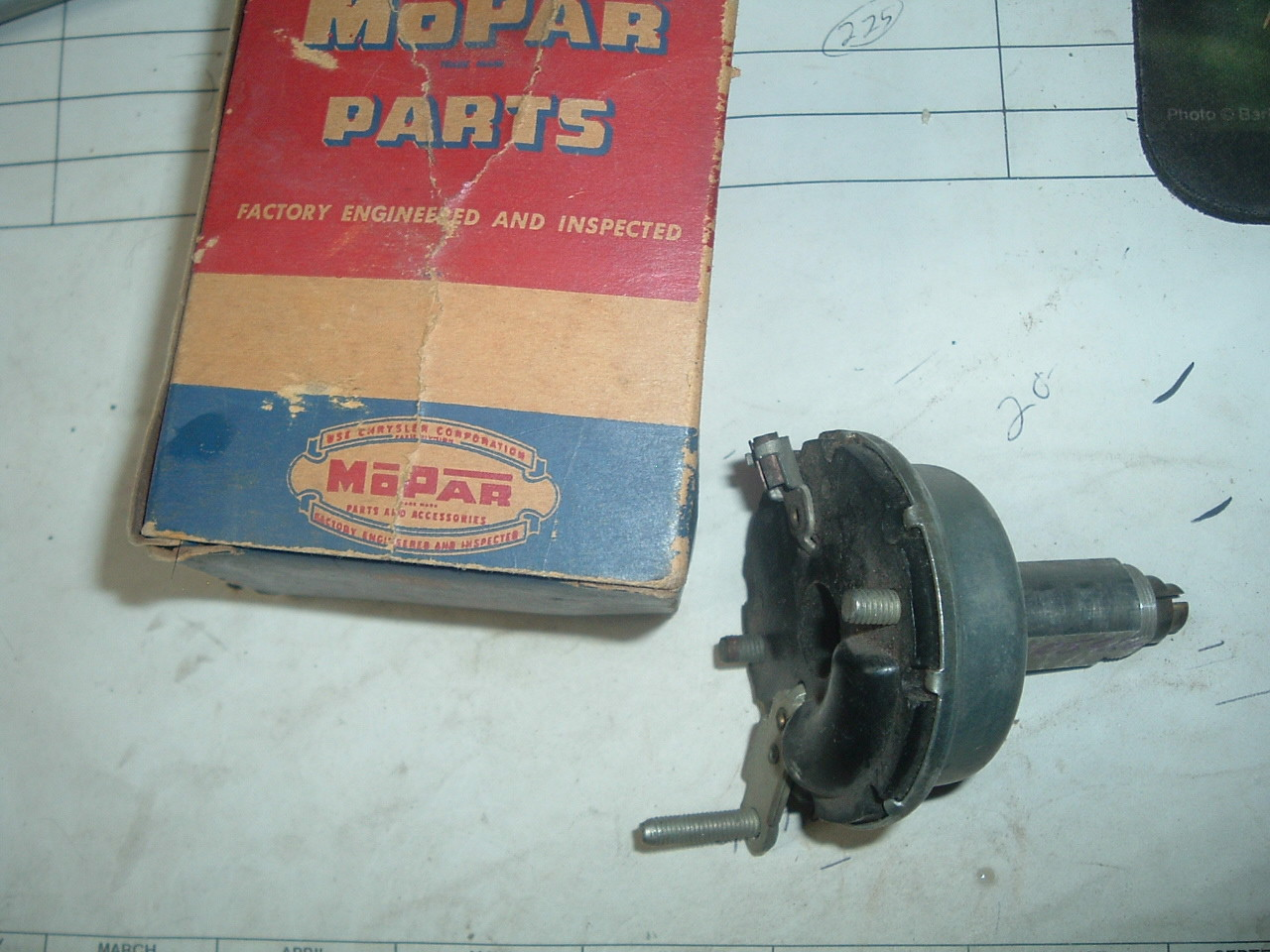 11955 dodge interior dash light switch nos mopar # 1605026 (z 1605026)