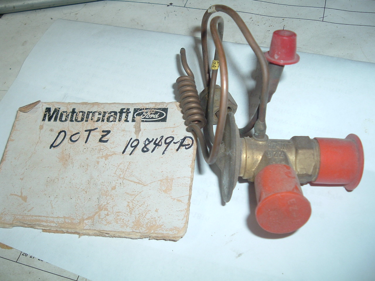 1970 71 ford truck air conditioning expansion valve nos ford # D0TZ-19849-A (z d0tz19849a)