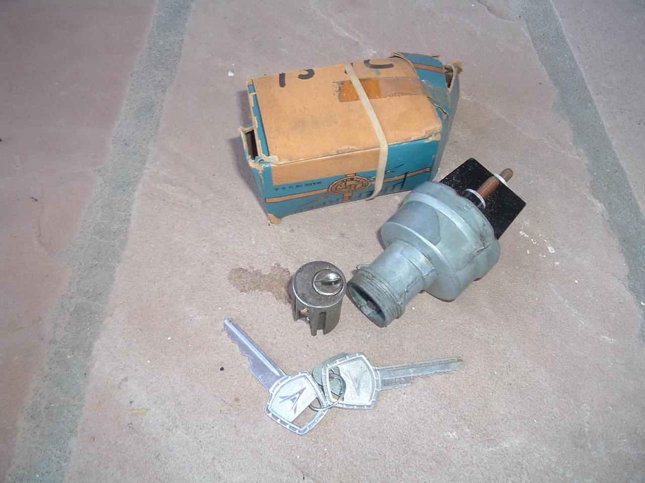 1958 1959 Chrysler Dodge Plymouth Desoto ignition switch w/ keys 1838984 (z 1838984a)
