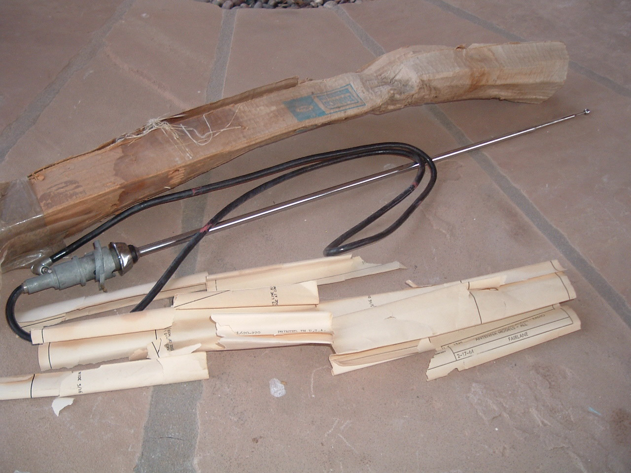 1964 ford fairlane radio antenna kit nos ford C40Z-18813-A (1) (z c40z18813a)