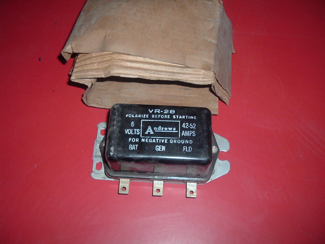 1940 thru 1954 Buick Cadillac Chevrolet Oldsmobile Pontiac new replacement voltage regulator # dr161 (zd dr161)