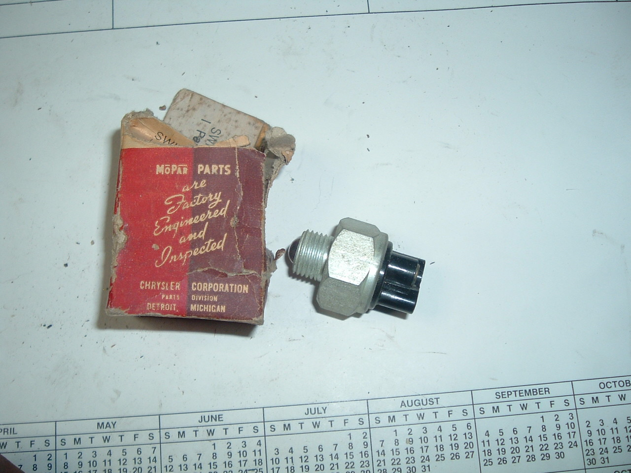 View Product1941 1942 NOS MoPaR Trans Interupter & Nuetral Start Switch Chrysler Dodge Desoto # 866764 (z 866764)