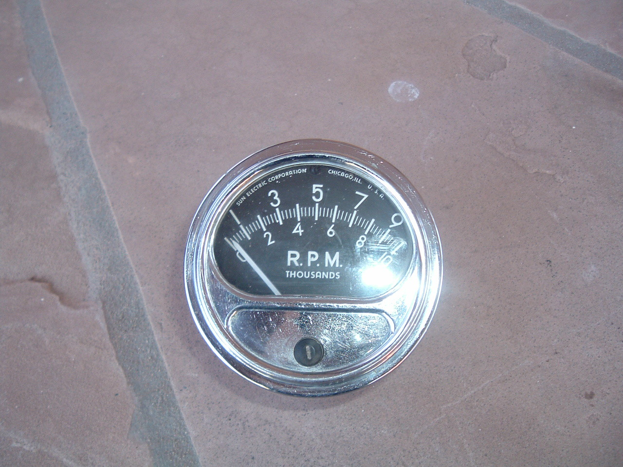 1960 61 62 63 64 65 era sun tachometer 10 grand FZ-108 N good used (z fz108n)