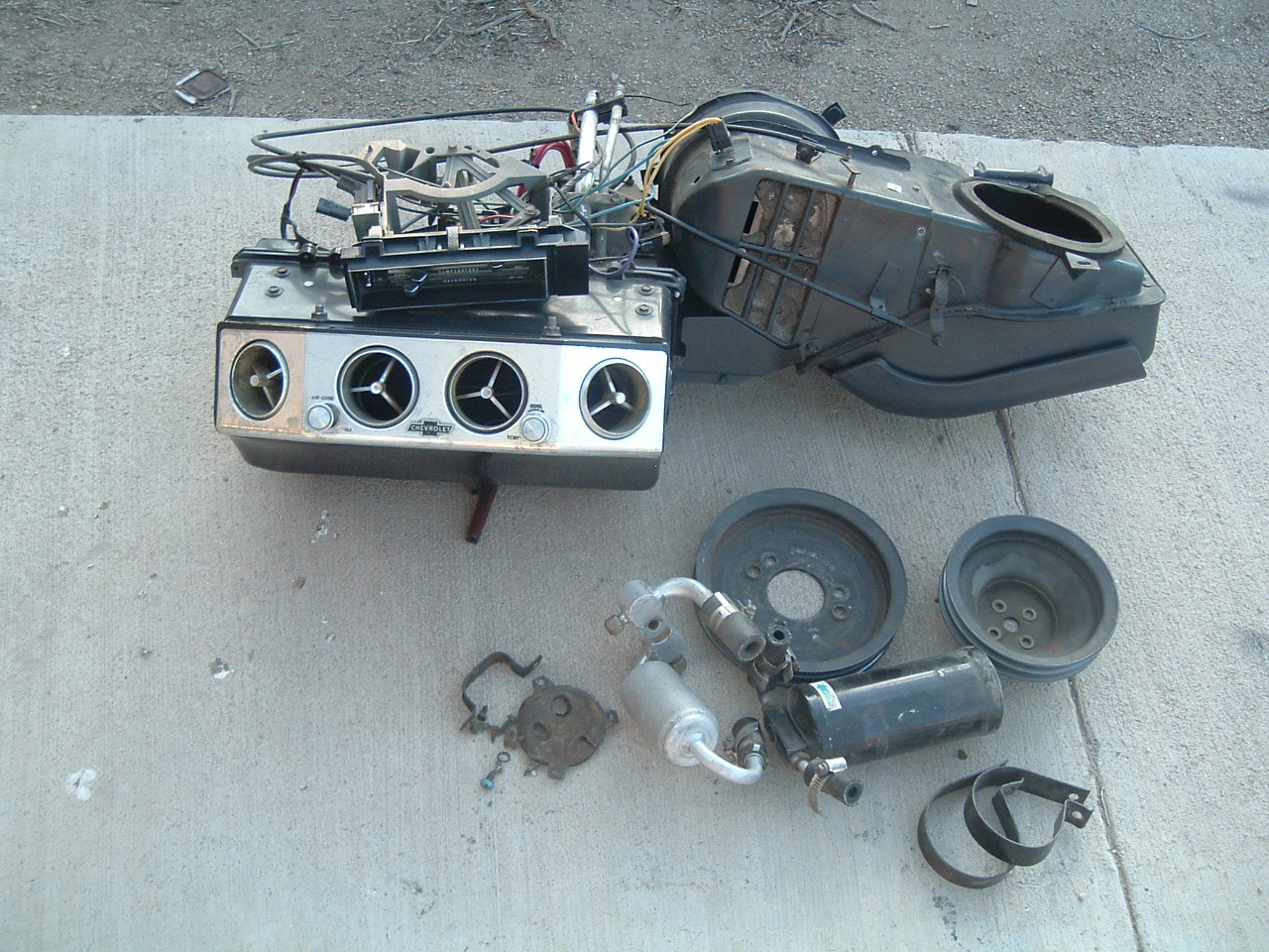 1966 nova air conditioning unit original (z 66acunit)