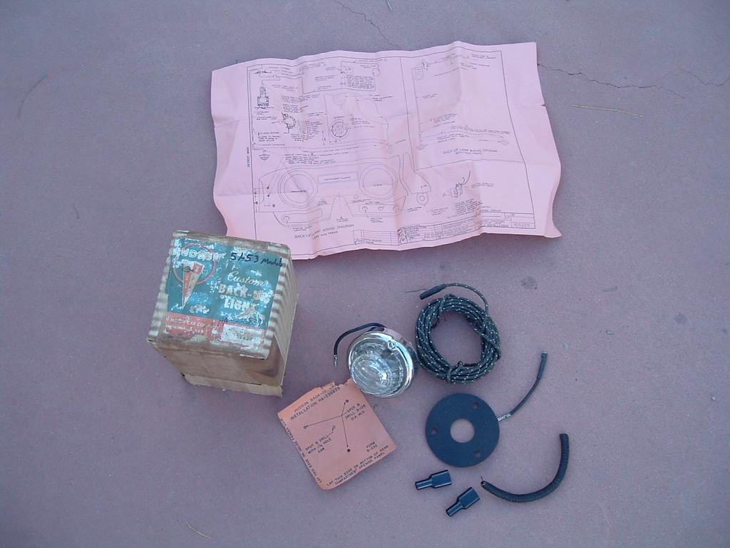 1951 52 53 hudson reverse light back accessory kit nos HA-226839 (z ha226839)