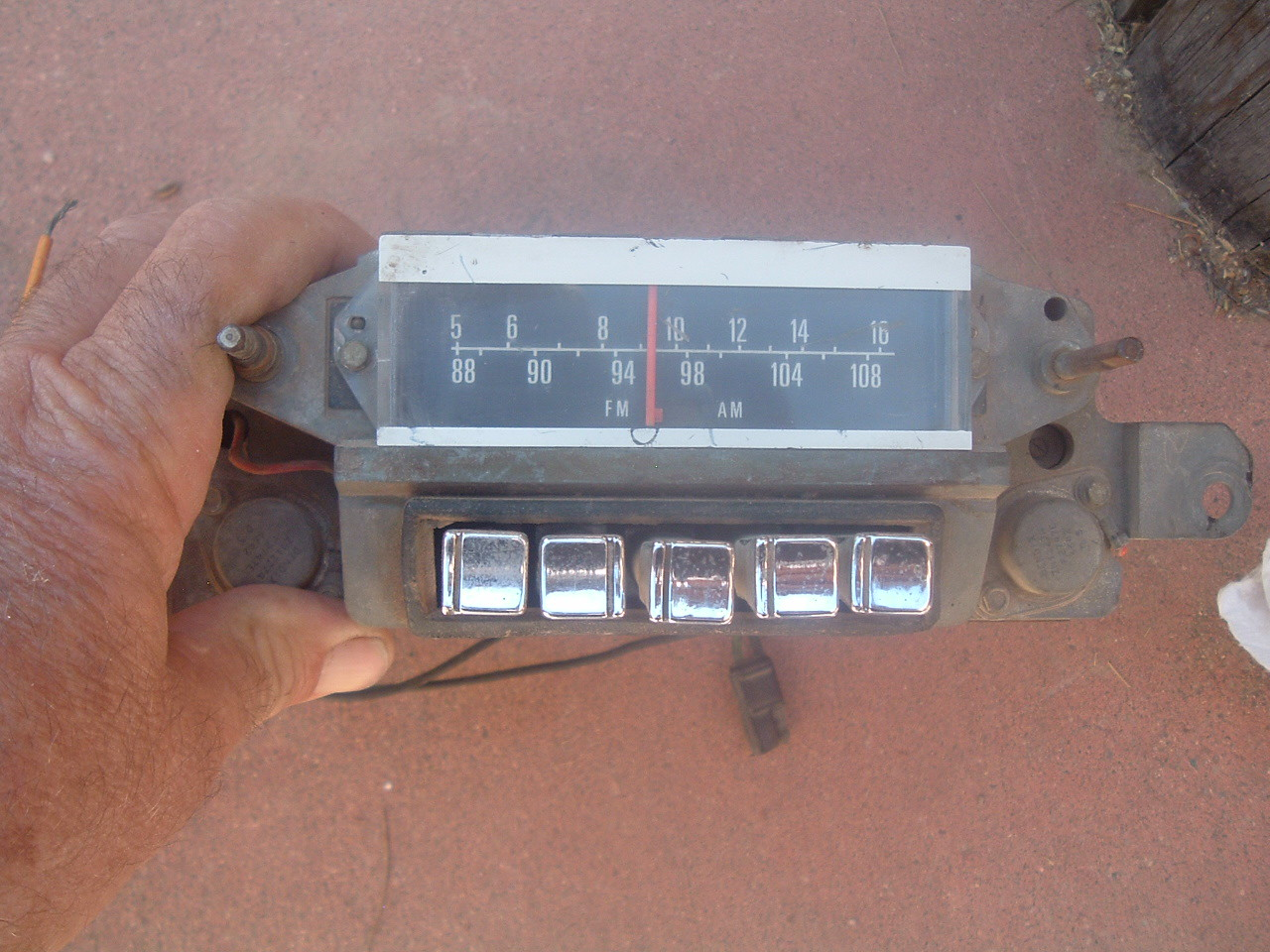 1967 ford galaxie am/fm radio original