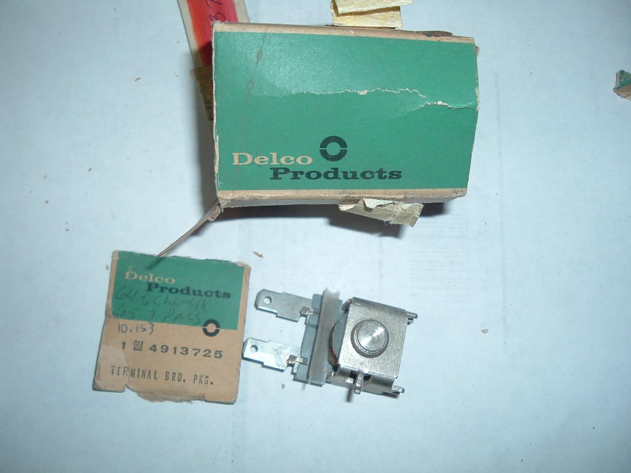 1964 65 66 67 chevelle cutlass impala windshield wiper terminal board nos gm # 4913725 (z 4913725)