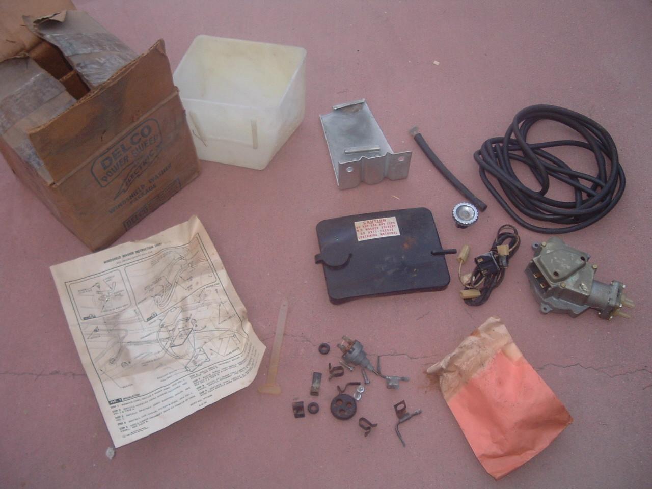 1960 61 chevrolet truck windshield washer kit nos gm # 988220 (z 988220)