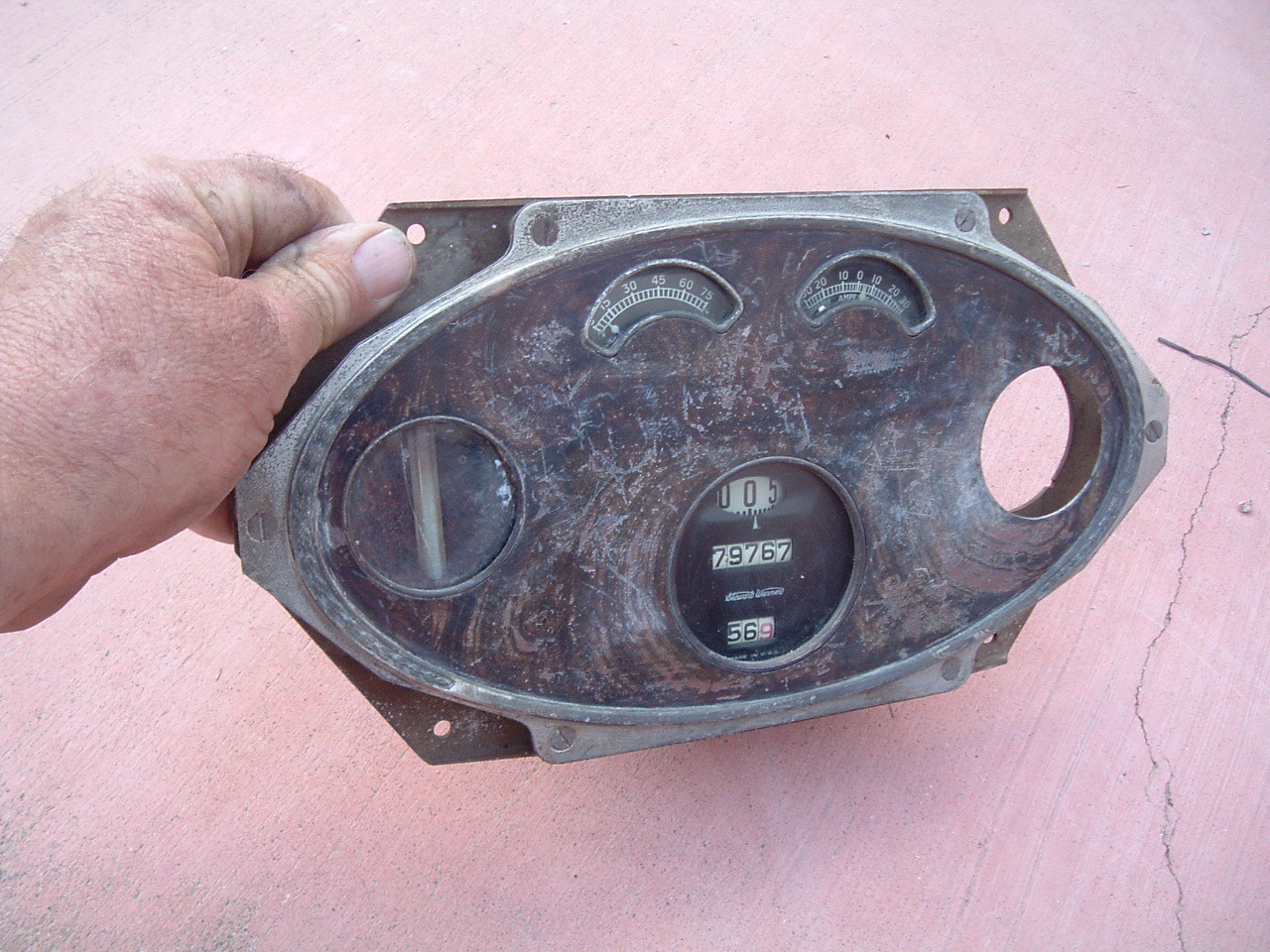 1927 28 willys knight speedometer and gauge cluster original used (z 27-8willyscluster)